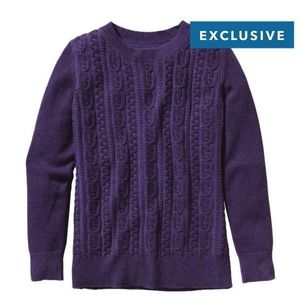 Patagonia Woman's Cashmere Crew Purple Sweater Md